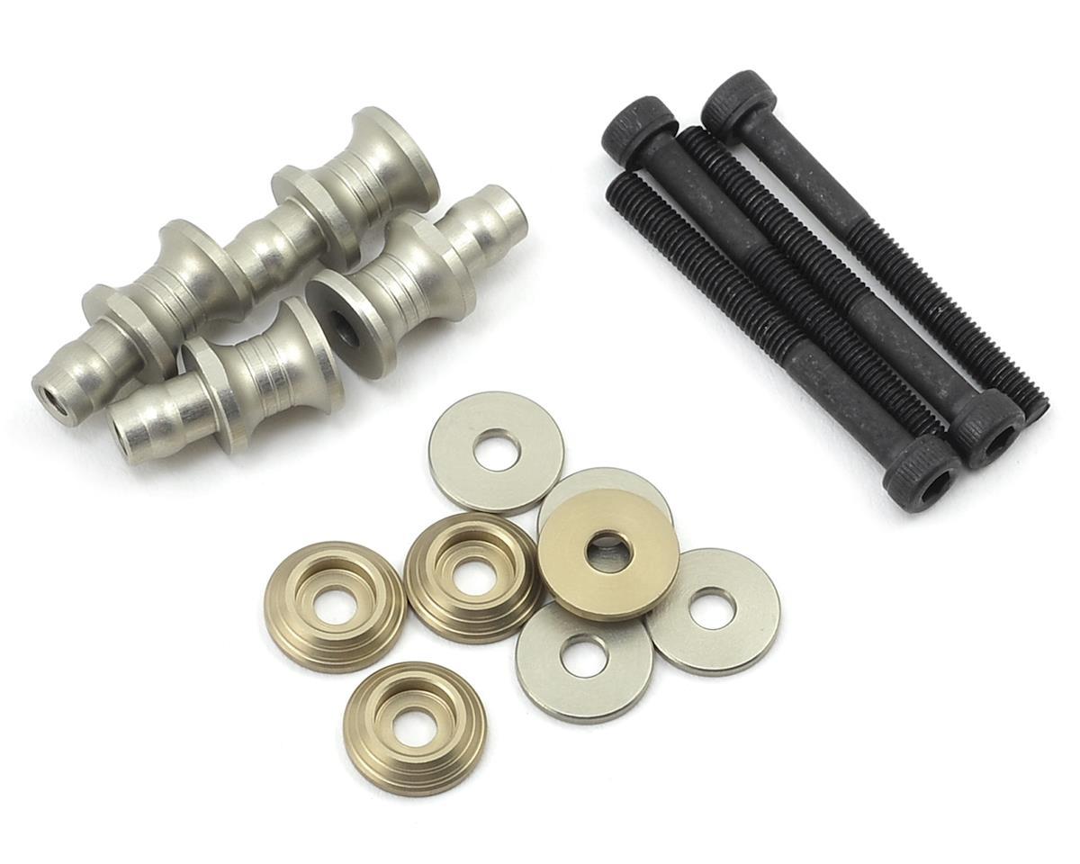 PSM Aluminum MBX7R EV2 Shock Standoff Set (Silver) (4)
