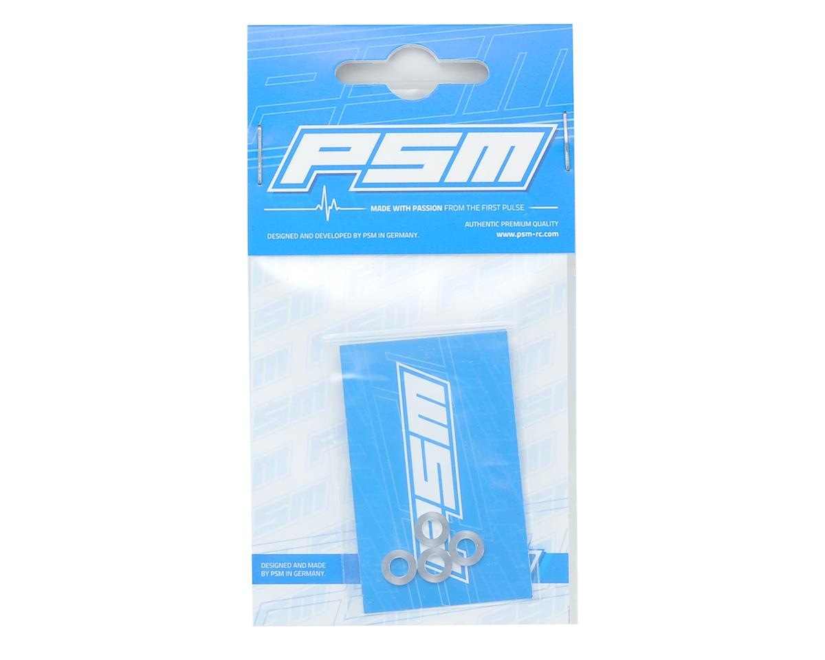 PSM 4x10x1mm RC8B3 Lower Arm Spacer (Silver) (4)
