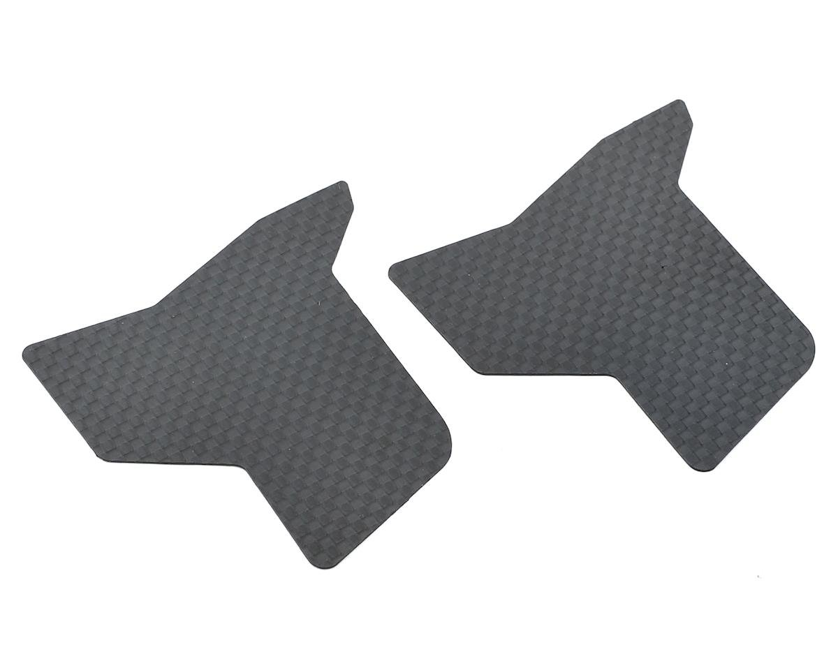 PSM 0.5mm RC8B3 Carbon LRG Rear Downforce Flaps (2) (Predator Body)