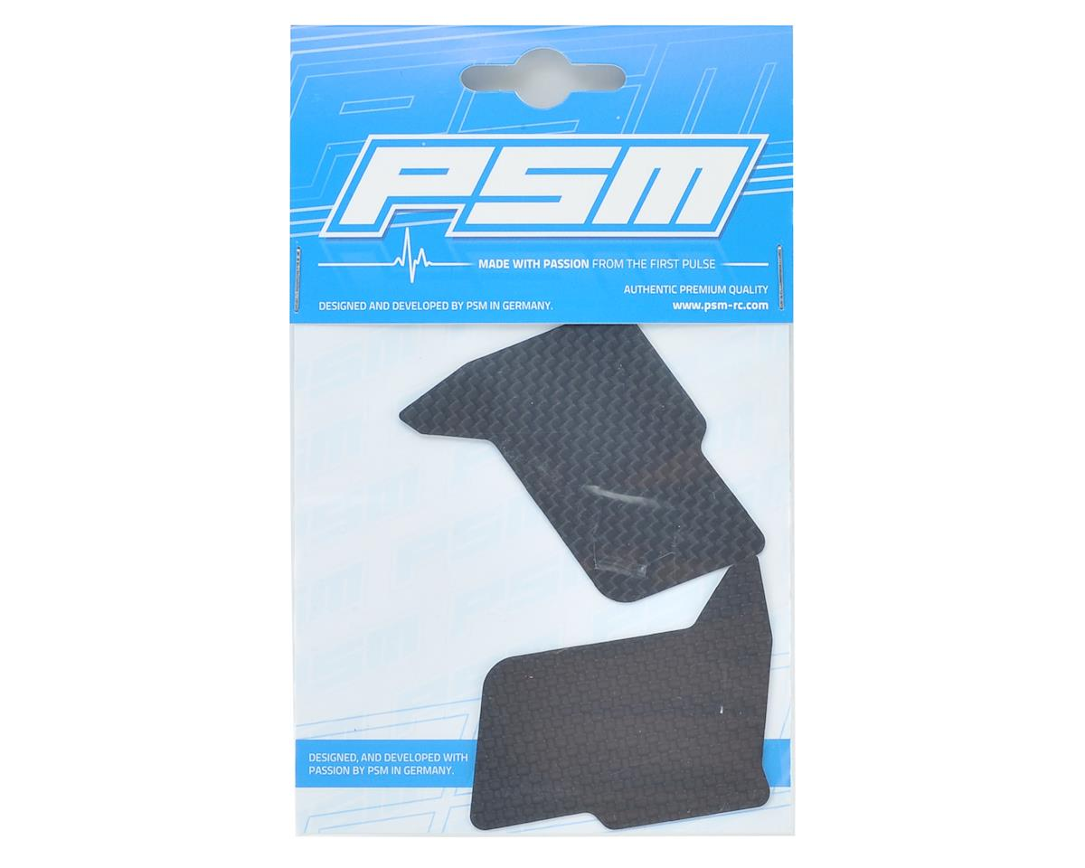 PSM 0.5mm RC8B3 Carbon SML Rear Downforce Flaps (1) (Stock Body)