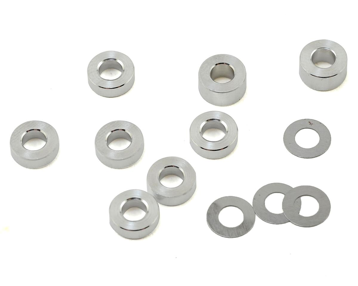 PSM TA07 Aluminum Lower Arm Spacer Set (12) (Silver)