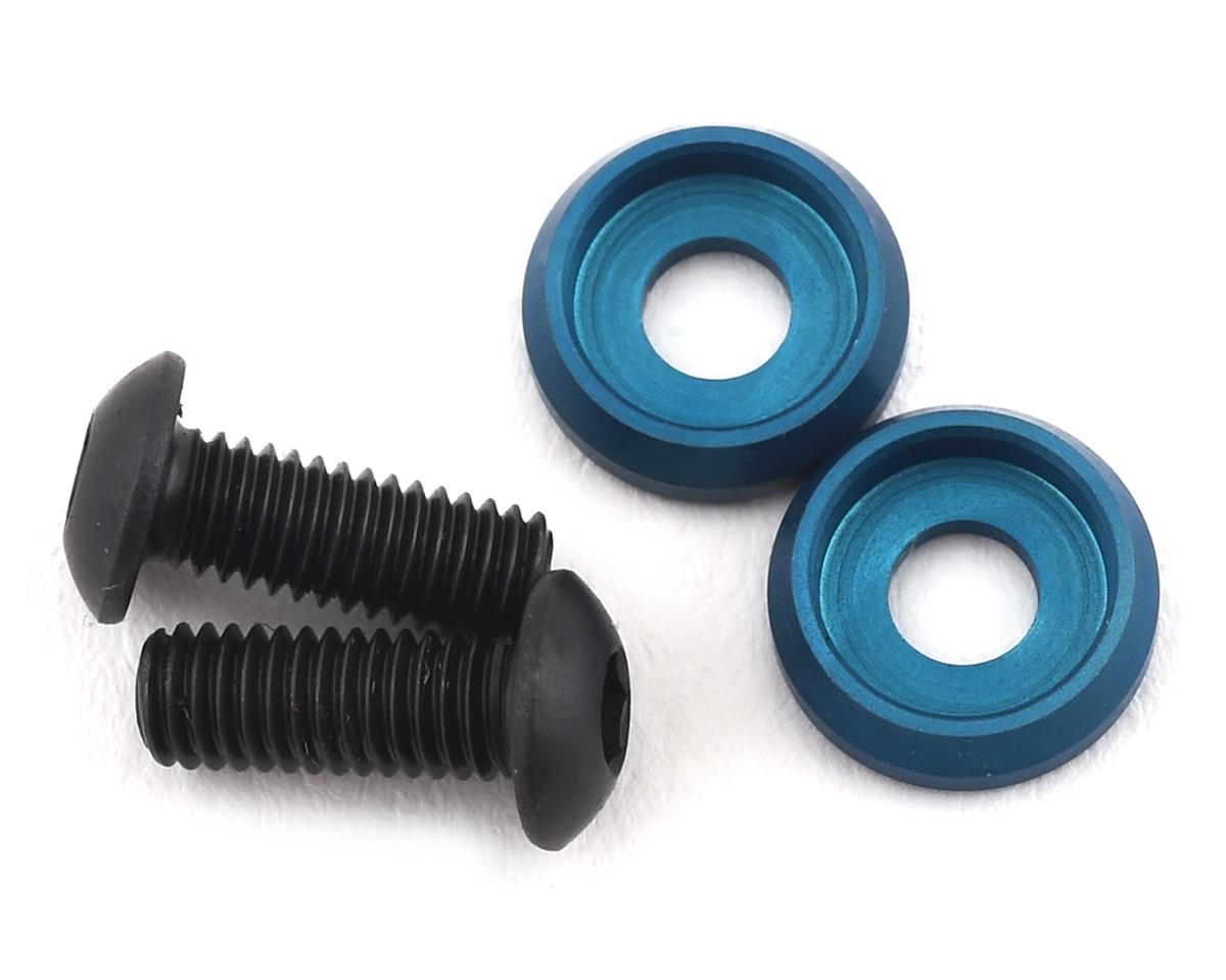 PSM Aluminum Motor Screw Washer w/Screws (Electric Blue) (2)