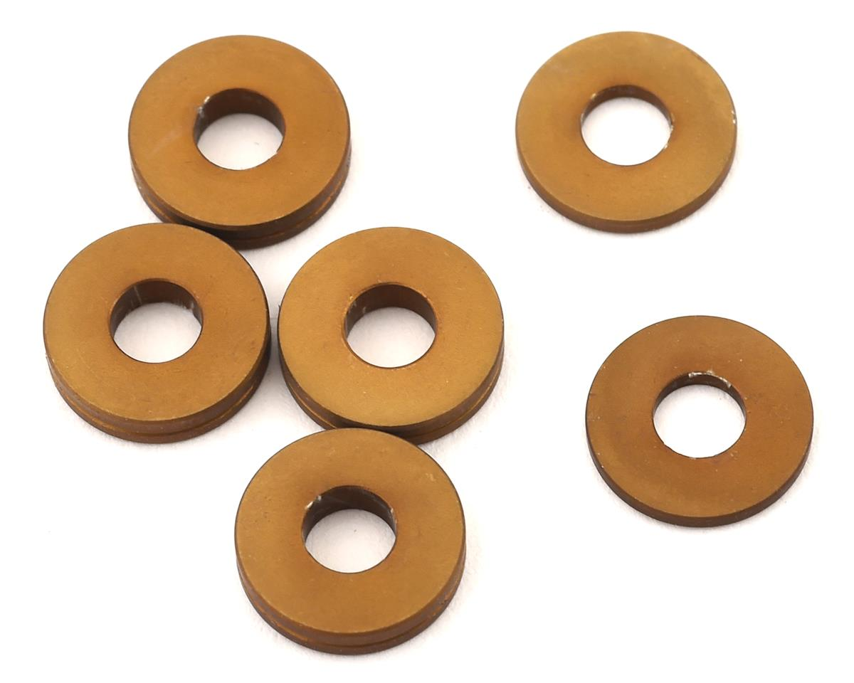PSM MP10 Aluminum Rear Hub Spacer Set (Dark Gold) (6)