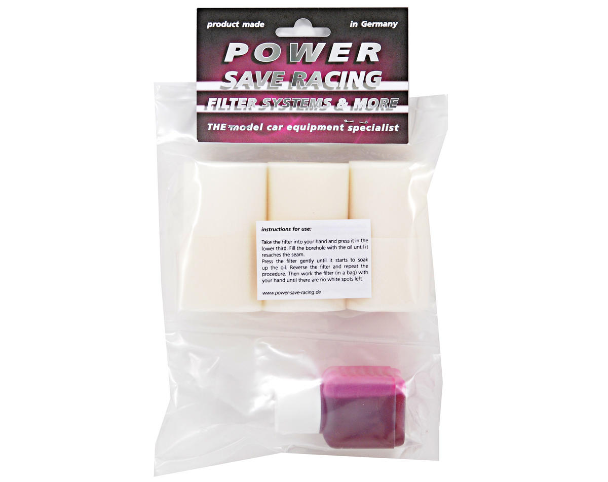 Power Save Racing 1/8 Off Road Two Stage Air Filter Foam w/45ml Oil (Pro-Line) (6)