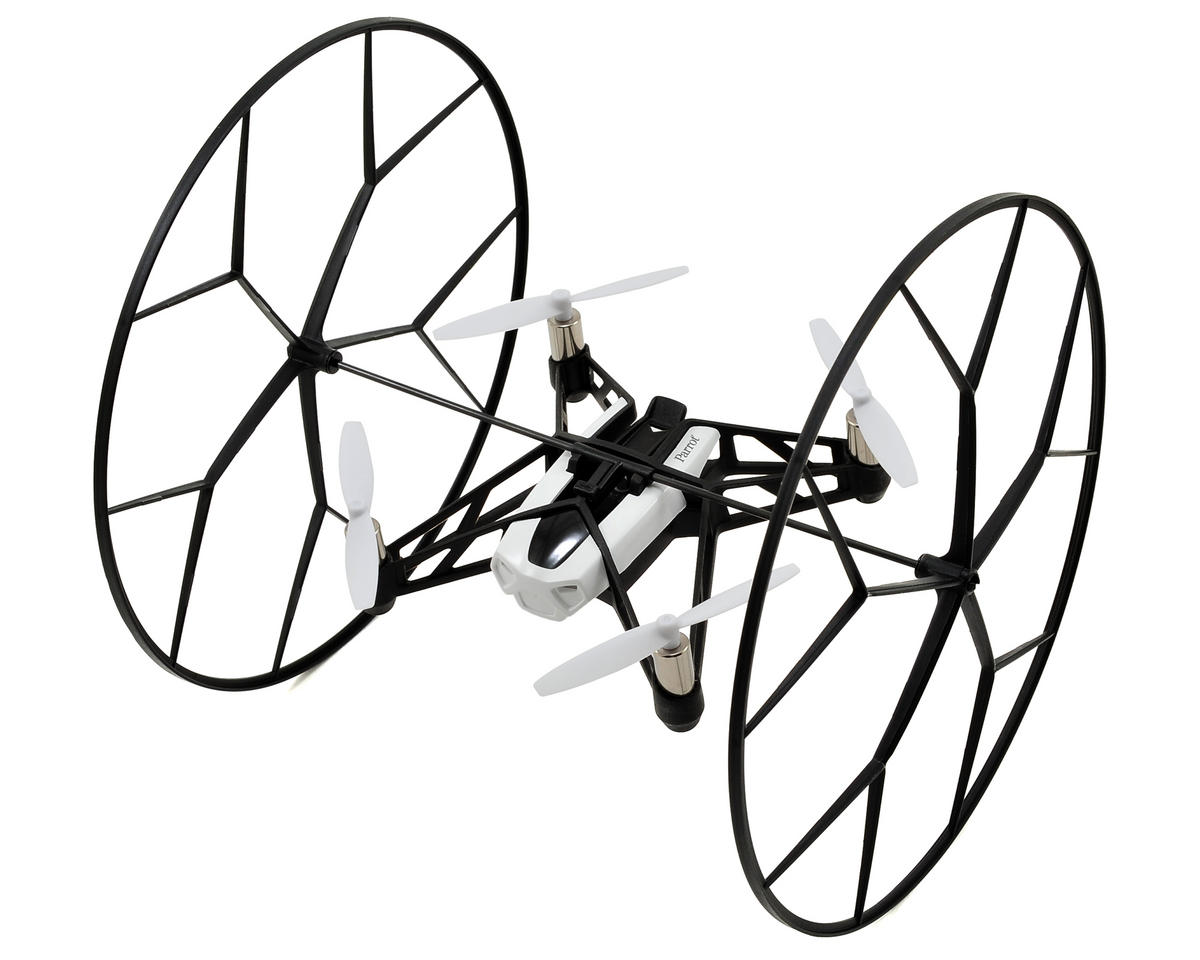 Parrot Rolling Spider RTF Micro Electric Quadcopter Drone (White)