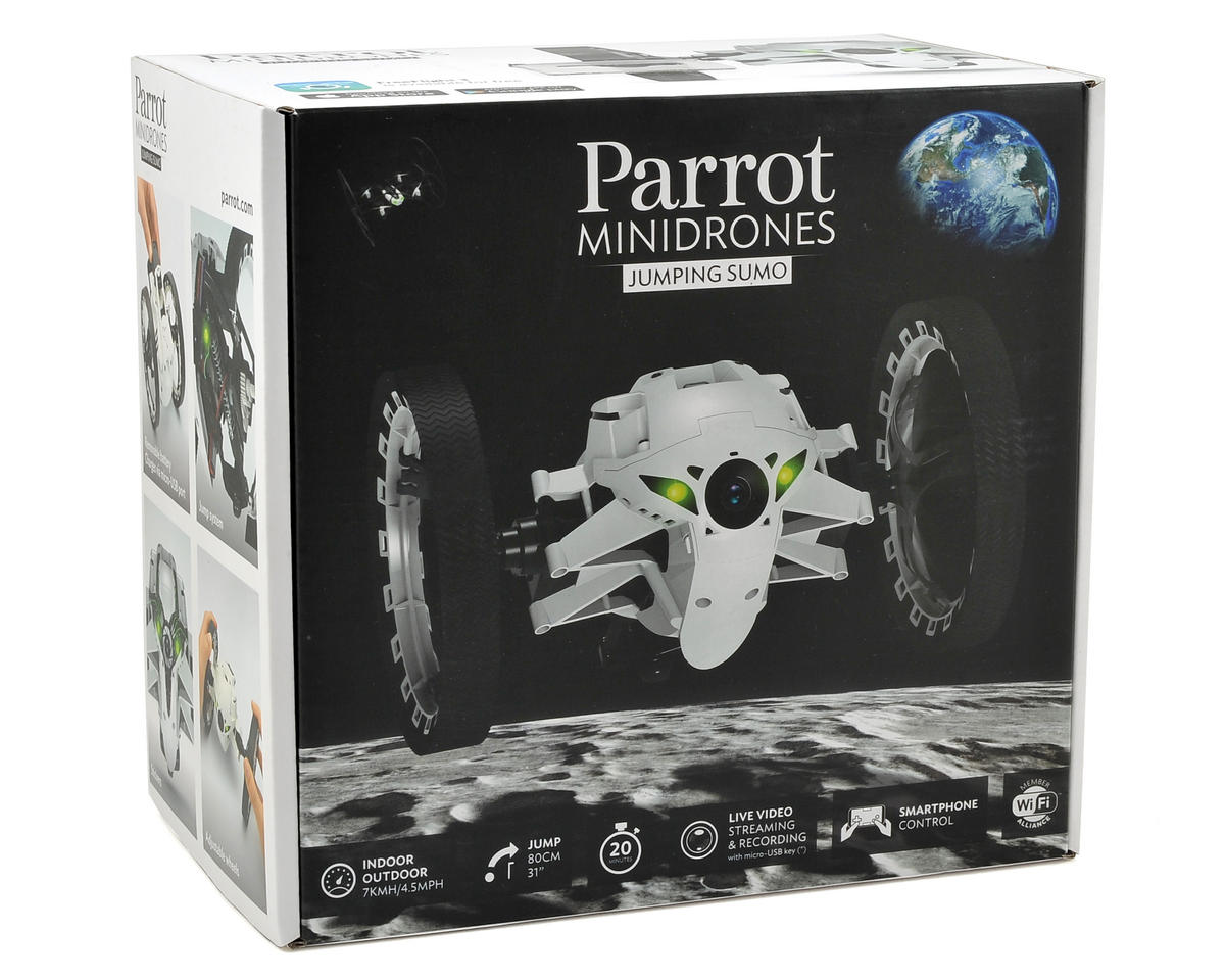 Parrot Jumping Sumo Rolling Robot (White)