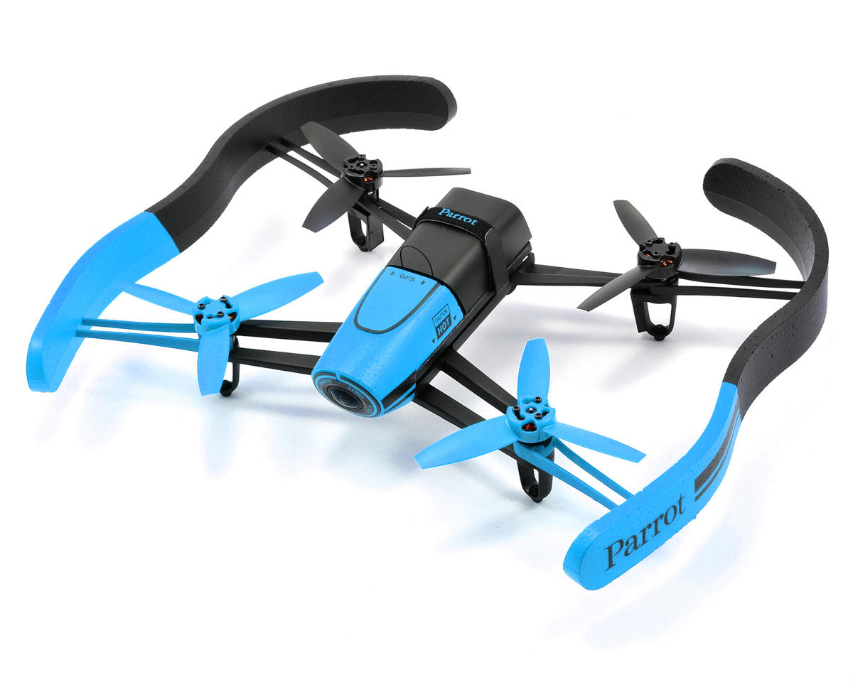 Parrot Bebop RTF Electric Quadcopter Drone & SkyController Bundle (Blue)