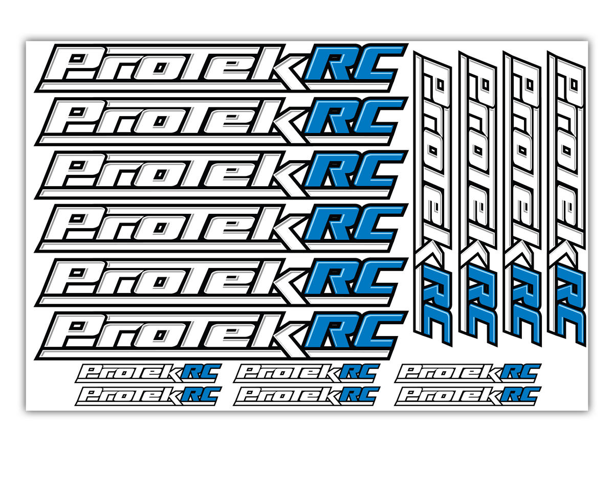 ProTek RC Large Logo Sticker Sheet | alsopurchased