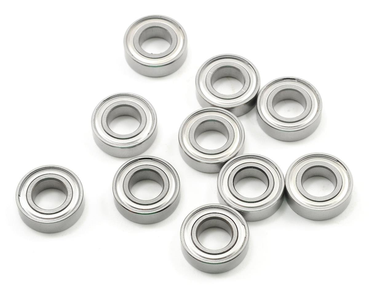 "8x16x5mm Metal Shielded ""Speed"" Bearing (10) by ProTek RC (JQ THE Car (White))"
