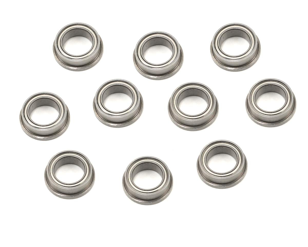 "1/4x3/8x1/8"" Metal Shielded Flanged ""Speed"" Bearing (10) by ProTek RC"