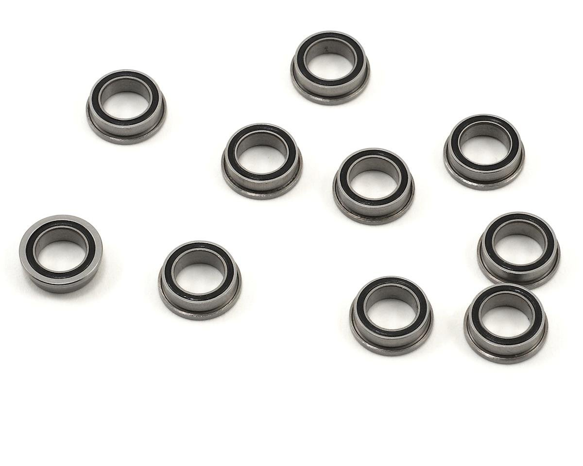 "ProTek RC 1/4x3/8x1/8"" Rubber Shielded Flanged ""Speed"" Bearing (10) (XRAY X10 2016)"