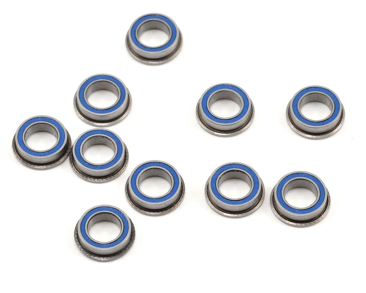 "5x8x2.5mm Rubber Sealed Flanged ""Speed"" Bearing (10) by ProTek RC"