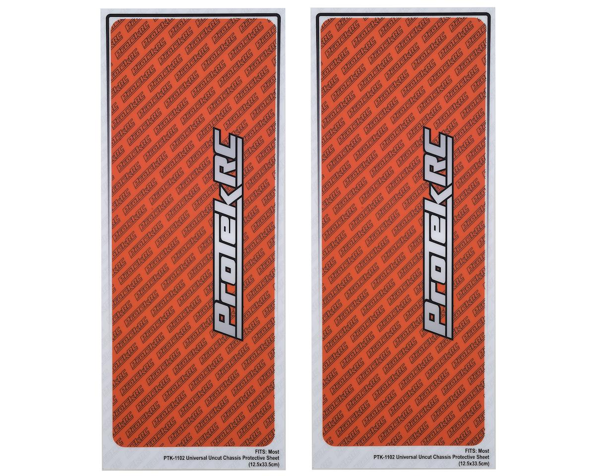 "ProTek RC Universal ""Thick"" Chassis Protective Sheet (Orange) (2)"