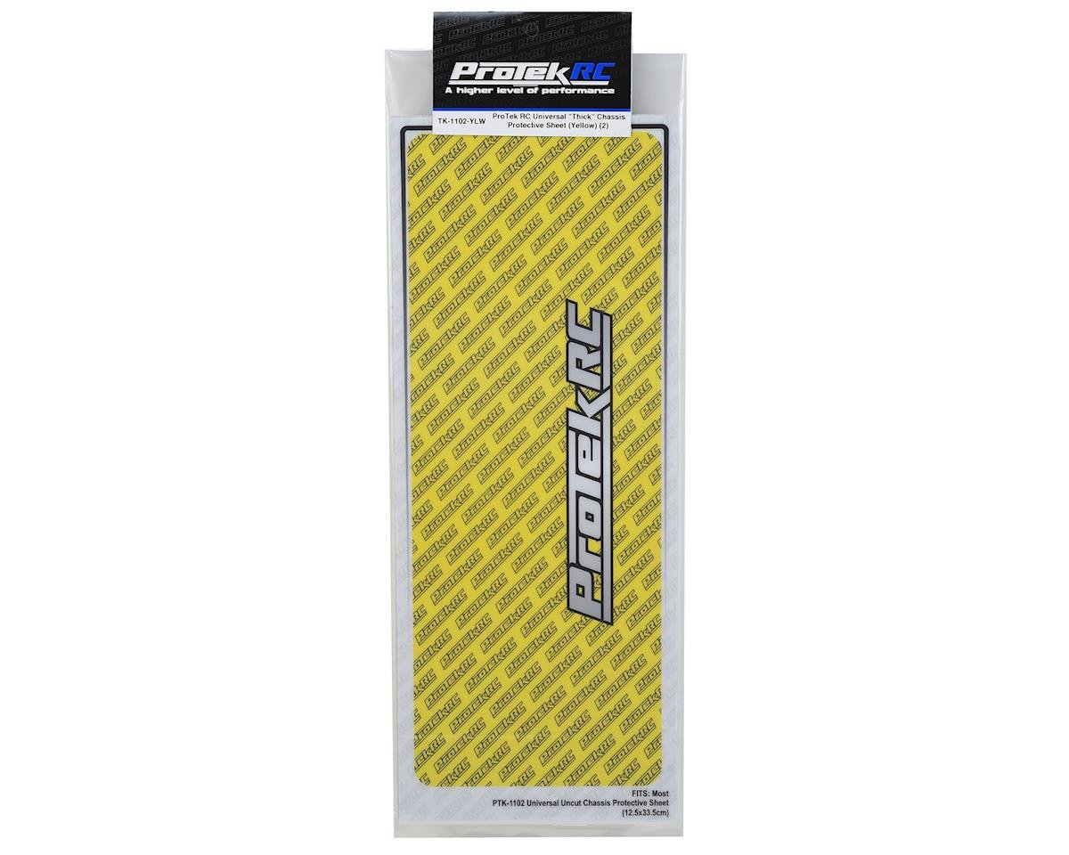 "ProTek RC Universal ""Thick"" Chassis Protective Sheet (Yellow) (2)"