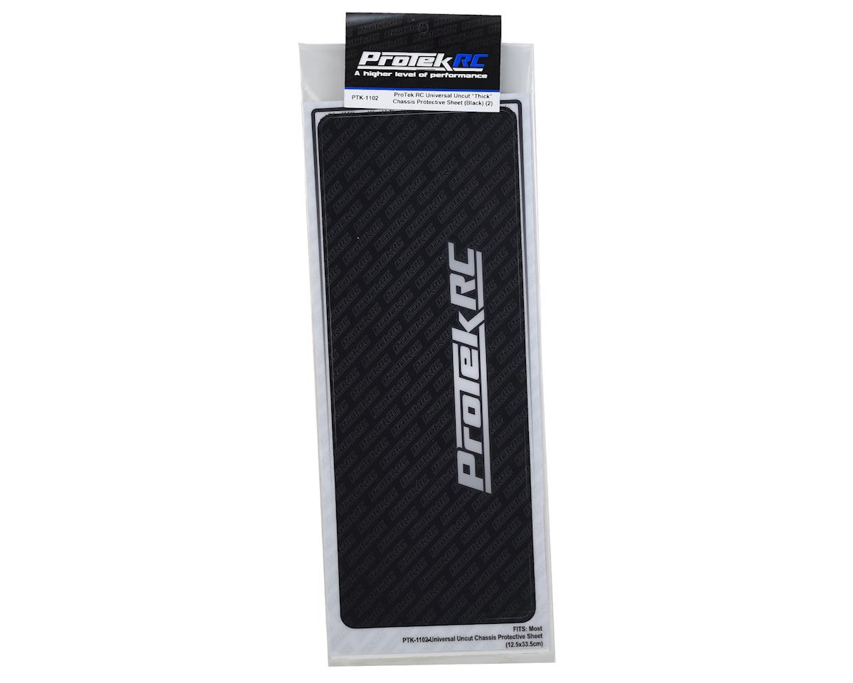 ProTek RC Universal Thick Chassis Protective Sheet (Black) (2)