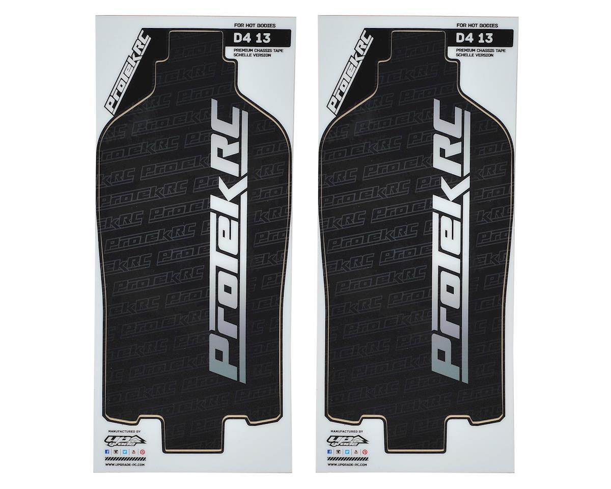 ProTek RC D413 +4mm Schelle Chassis Light Precut Protective Sheet (Black) (2)
