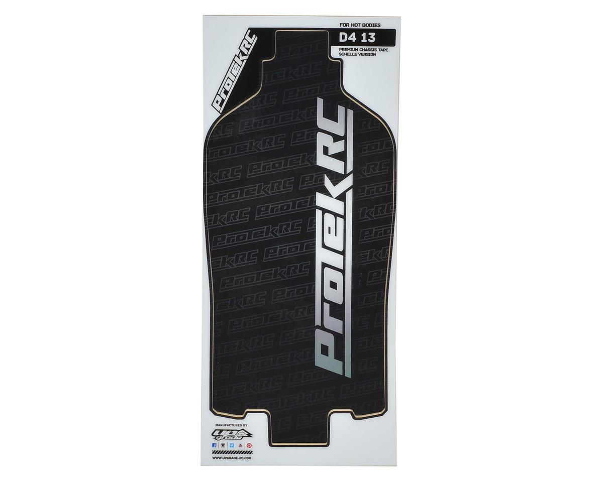 ProTek RC D413 +4mm Schelle Chassis Thick Precut Protective Sheet (Black) (1)