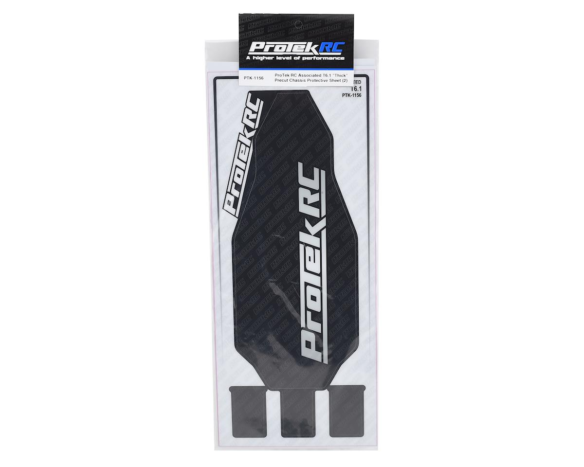 """ProTek RC Associated T6.1 """"Thick"""" Precut Chassis Protective Sheet (2)"""