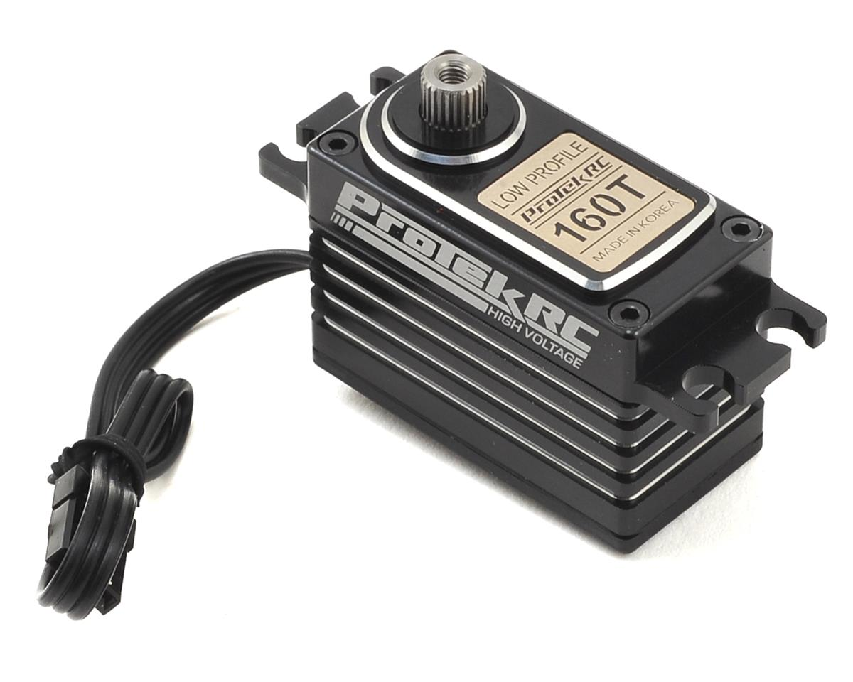 160T Low Profile High Torque Metal Gear Servo High Voltage/Metal Case by ProTek RC