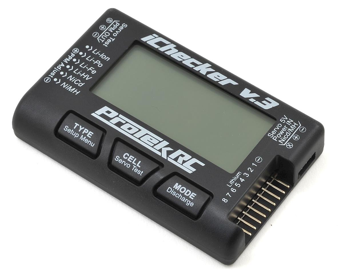 """iChecker 3.0"" LCD LiPo Battery Checker (2-8S) by ProTek RC"