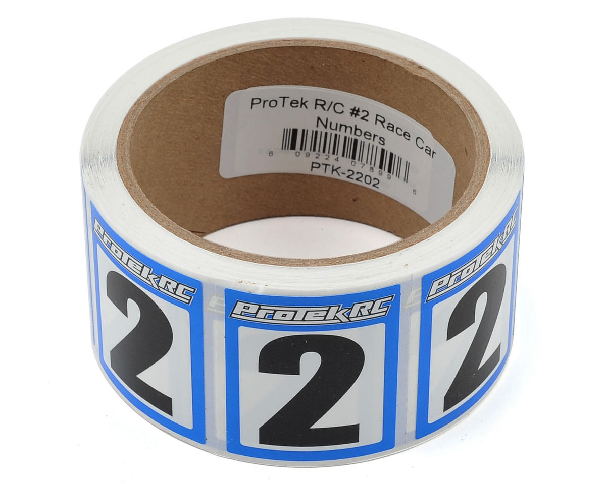 ProTek RC #2 Race Car Numbers (Blue/White) (300)