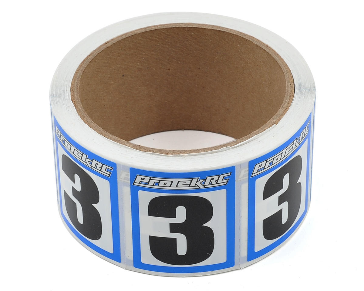 ProTek RC #3 Race Car Numbers (Blue/White) (300)
