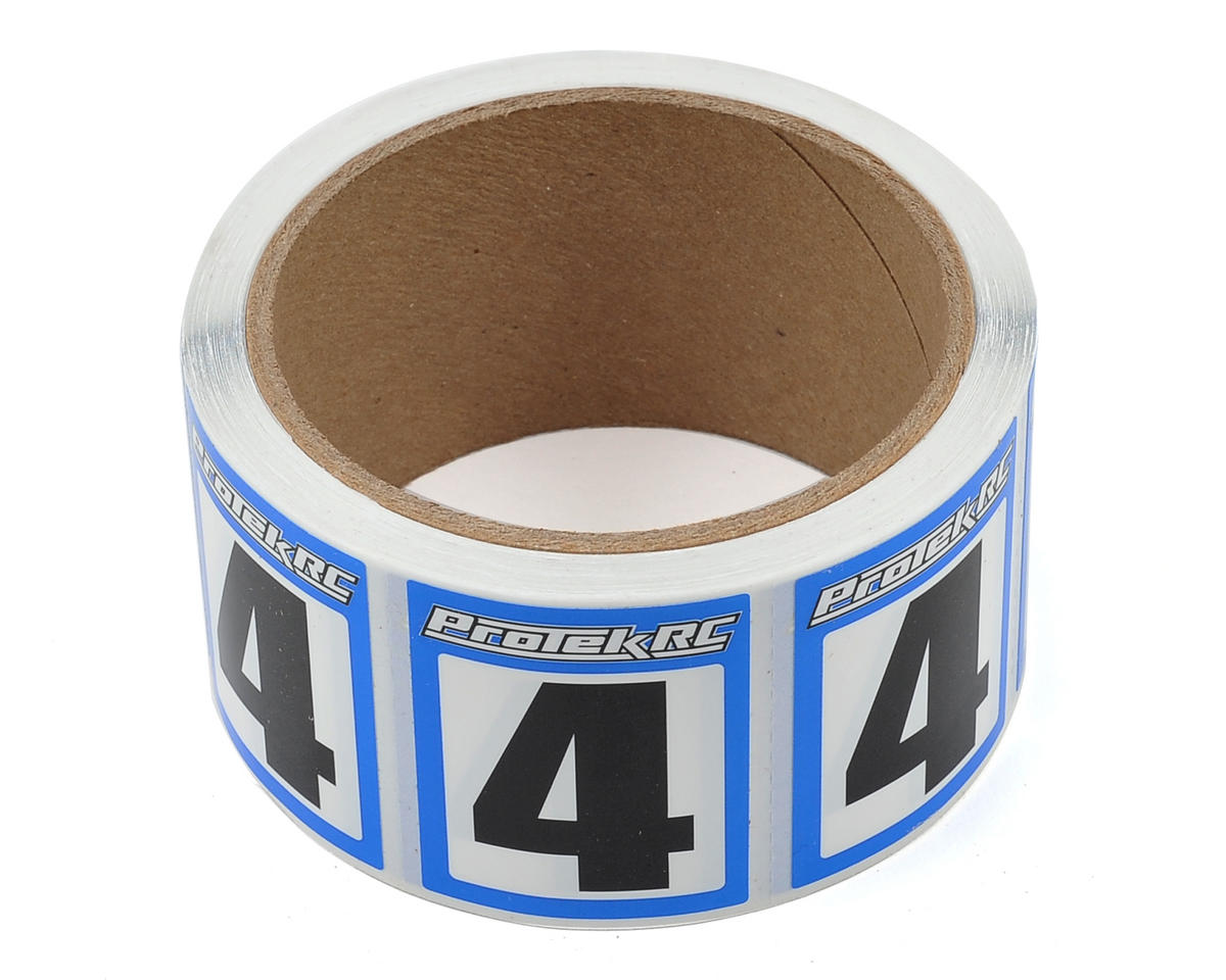 ProTek RC #4 Race Car Numbers (Blue/White) (300)