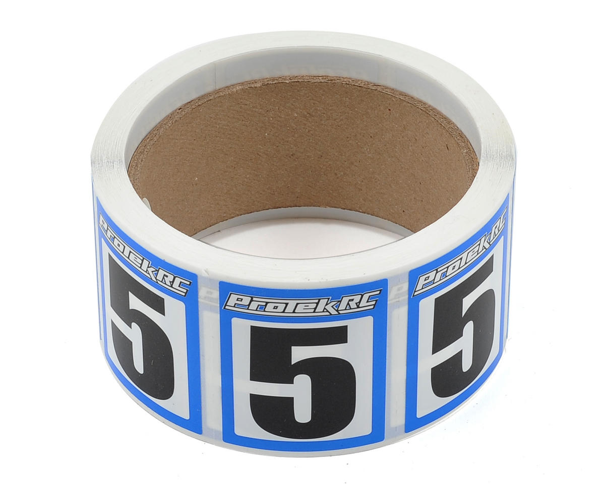 ProTek RC #5 Race Car Numbers (Blue/White) (300)