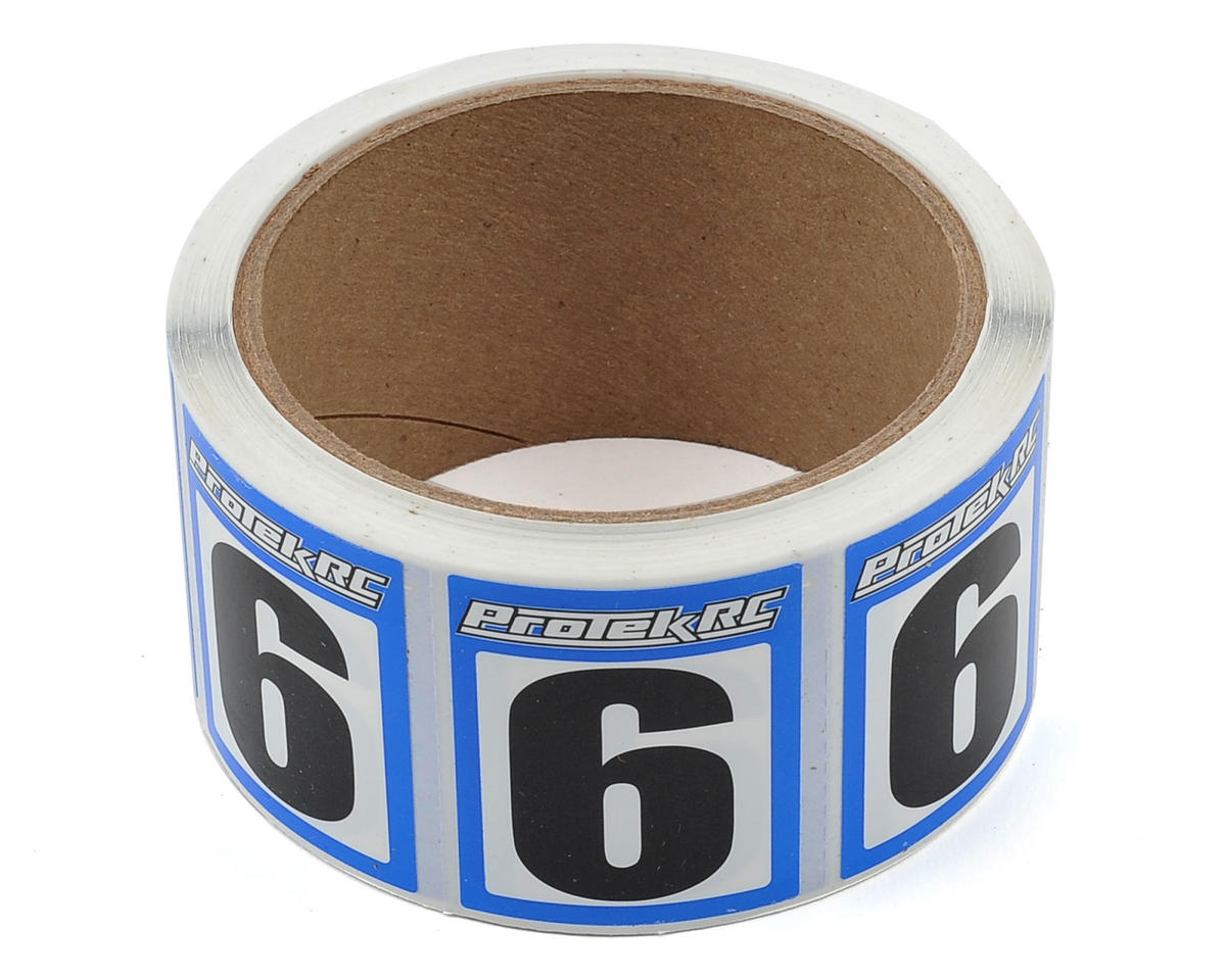 ProTek RC #6 Race Car Numbers (Blue/White) (300)