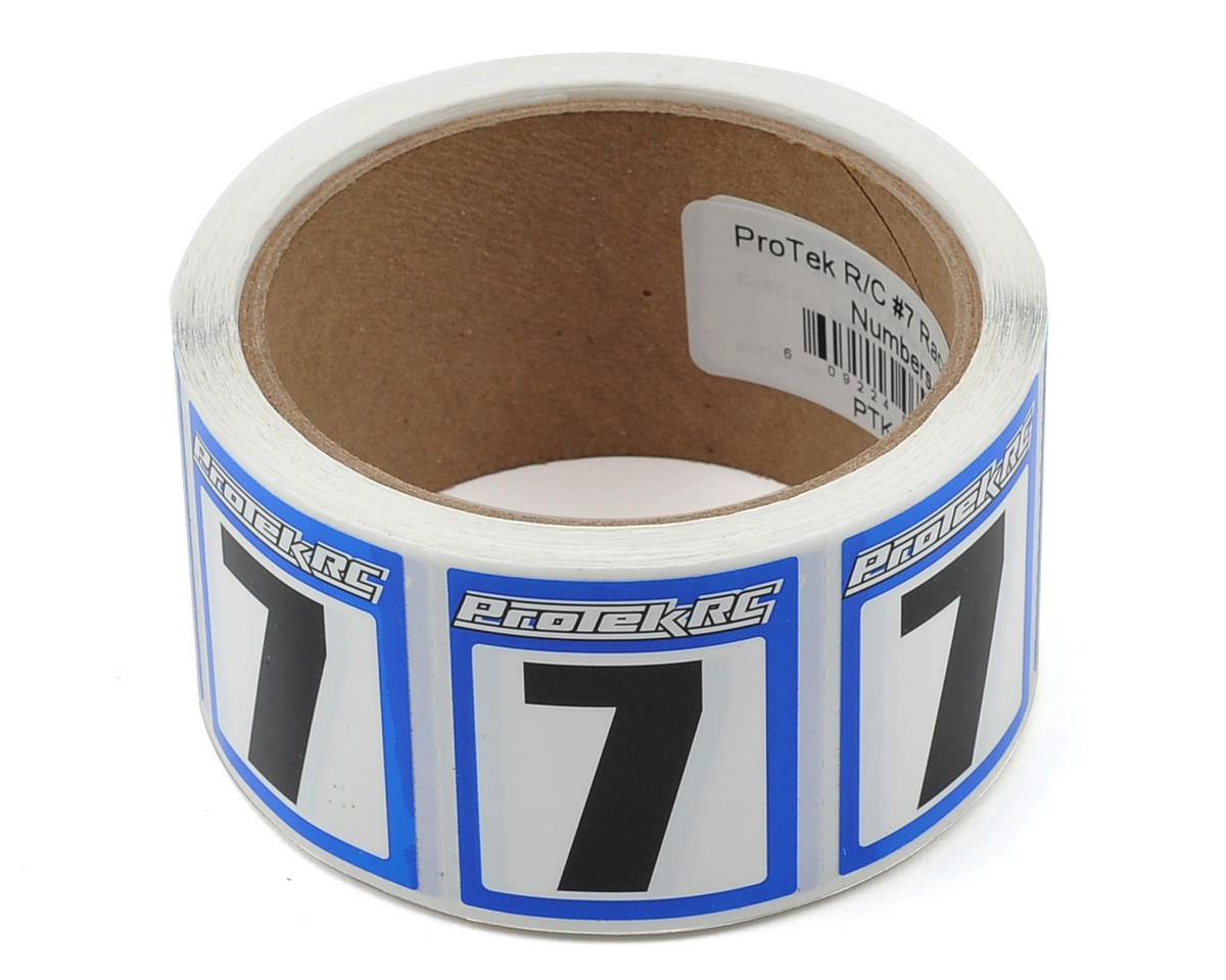 ProTek RC #7 Race Car Numbers (Blue/White) (300)