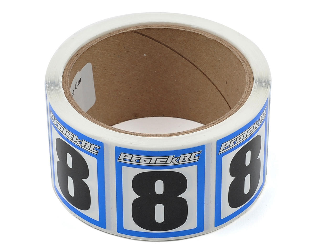 ProTek RC #8 Race Car Numbers (Blue/White) (300)