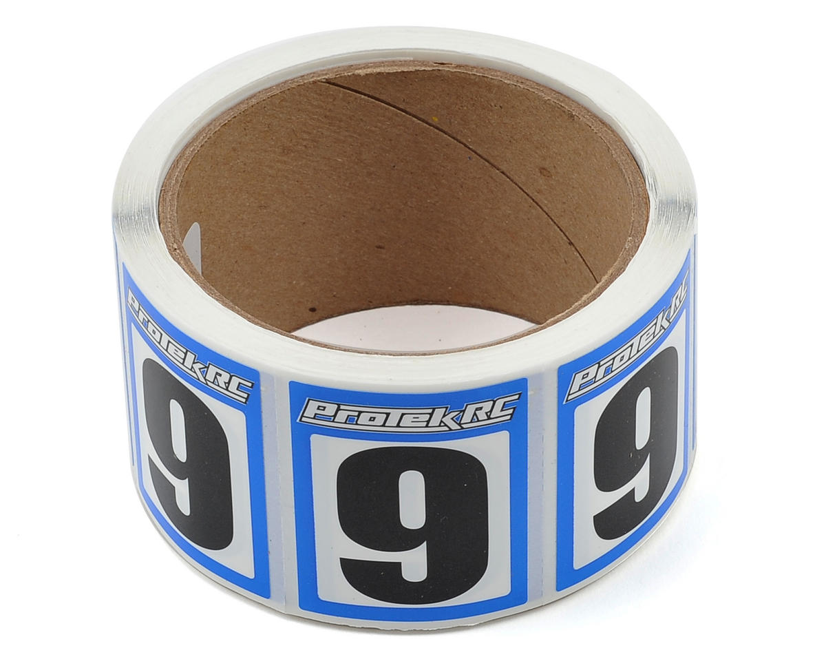 ProTek RC #9 Race Car Numbers (Blue/White) (300)