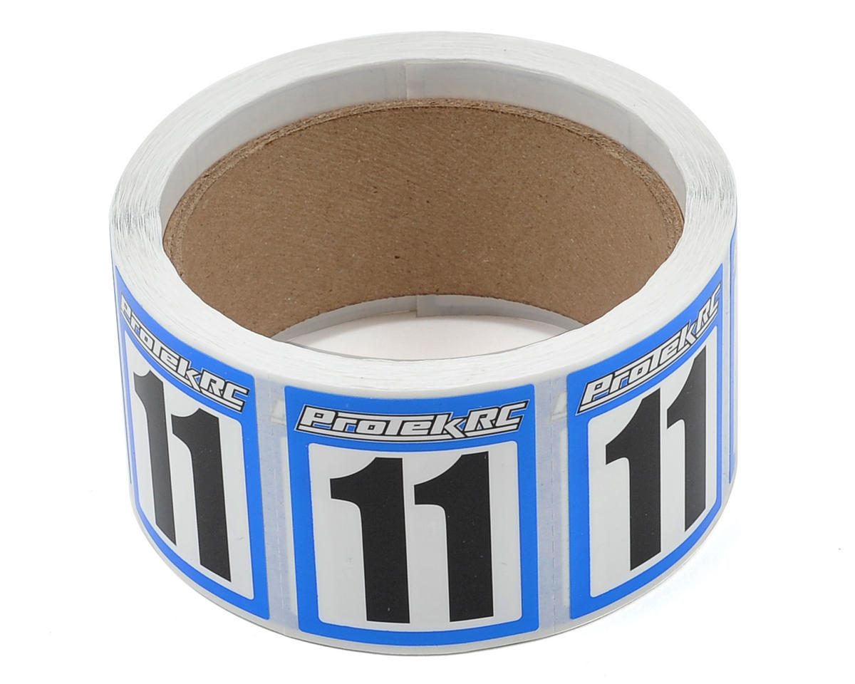 ProTek RC #11 Race Car Numbers (Blue/White) (300)