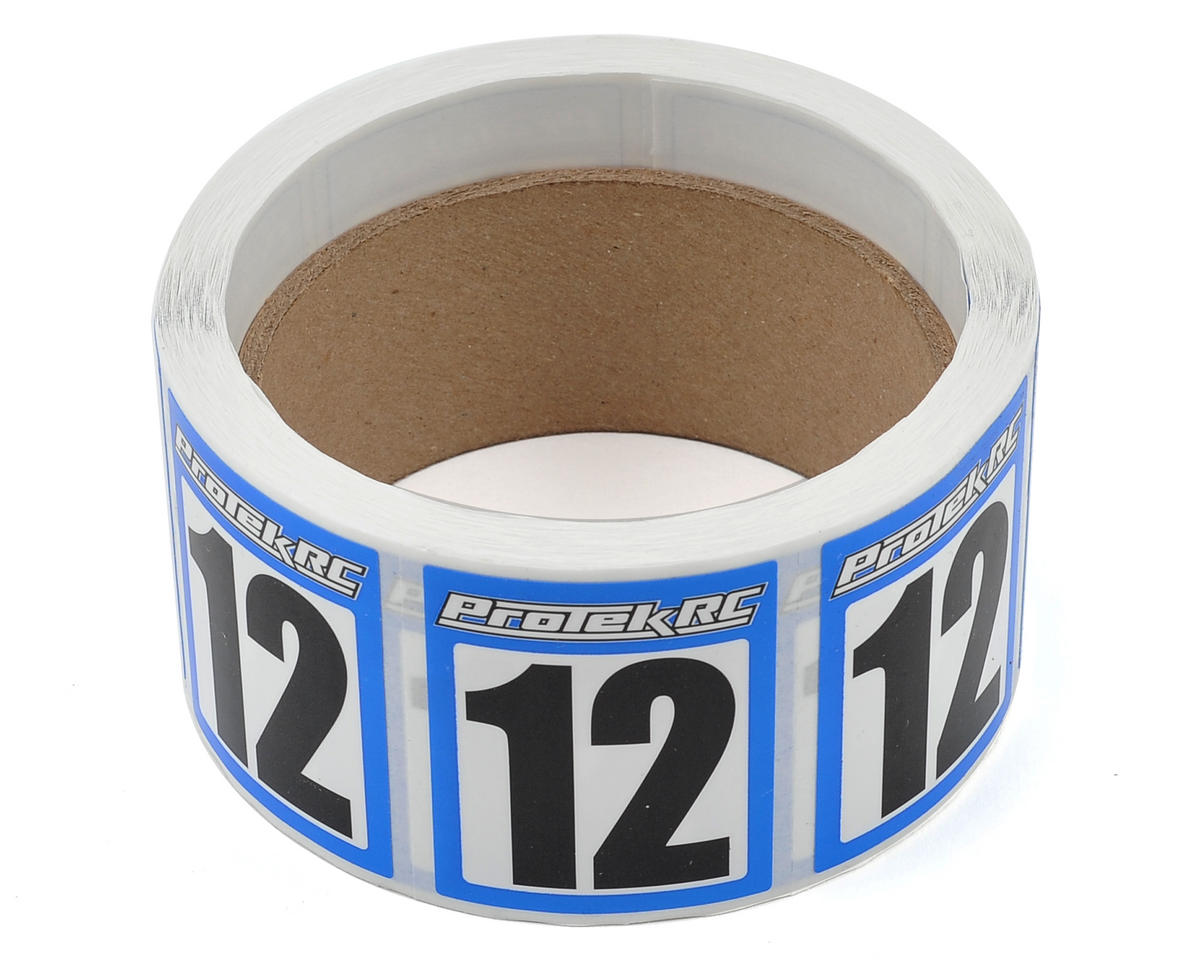 ProTek RC #12 Race Car Numbers (Blue/White) (300)