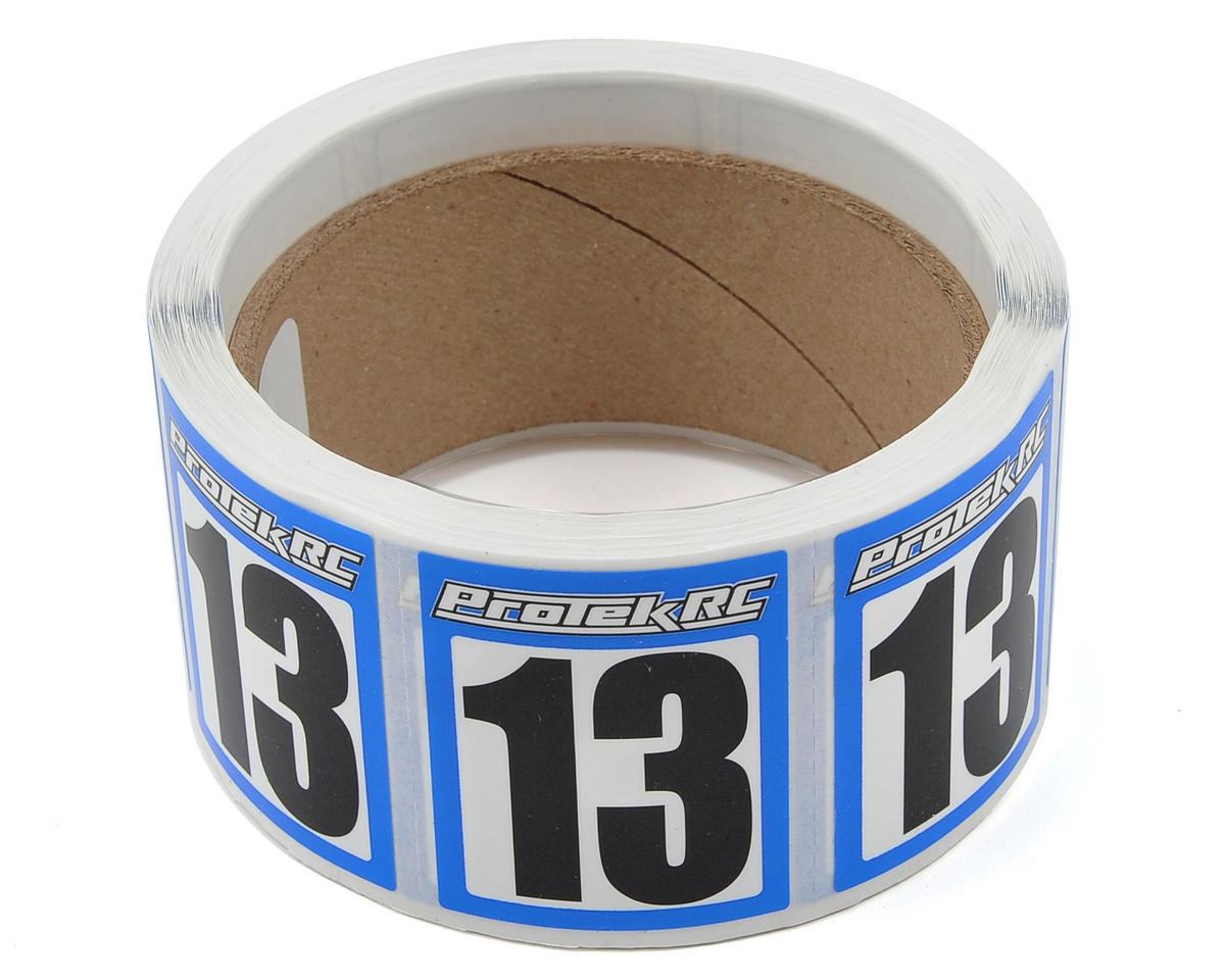 ProTek RC #13 Race Car Numbers (Blue/White) (300)