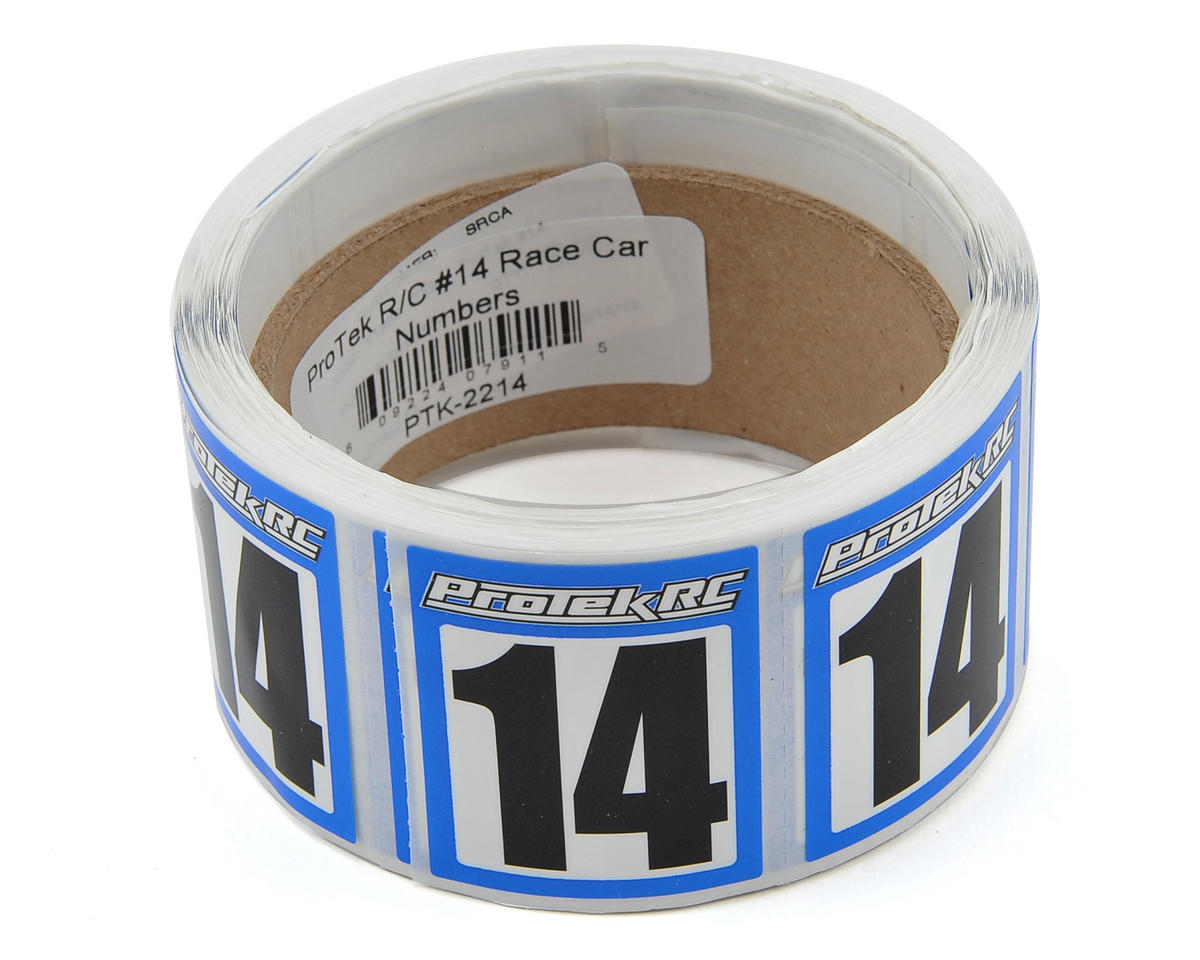 ProTek RC #14 Race Car Numbers (Blue/White) (300)