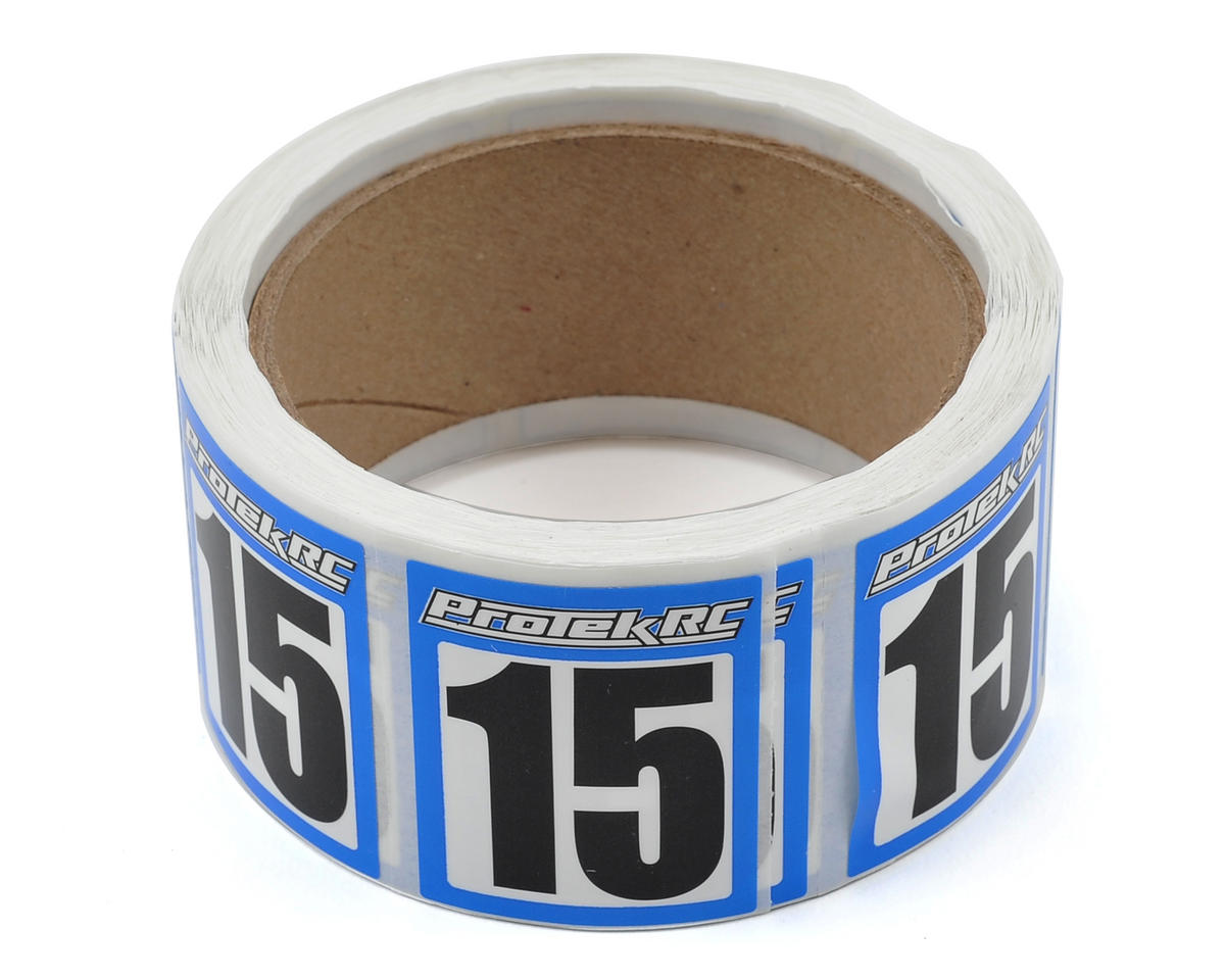 ProTek RC #15 Race Car Numbers (Blue/White) (300)
