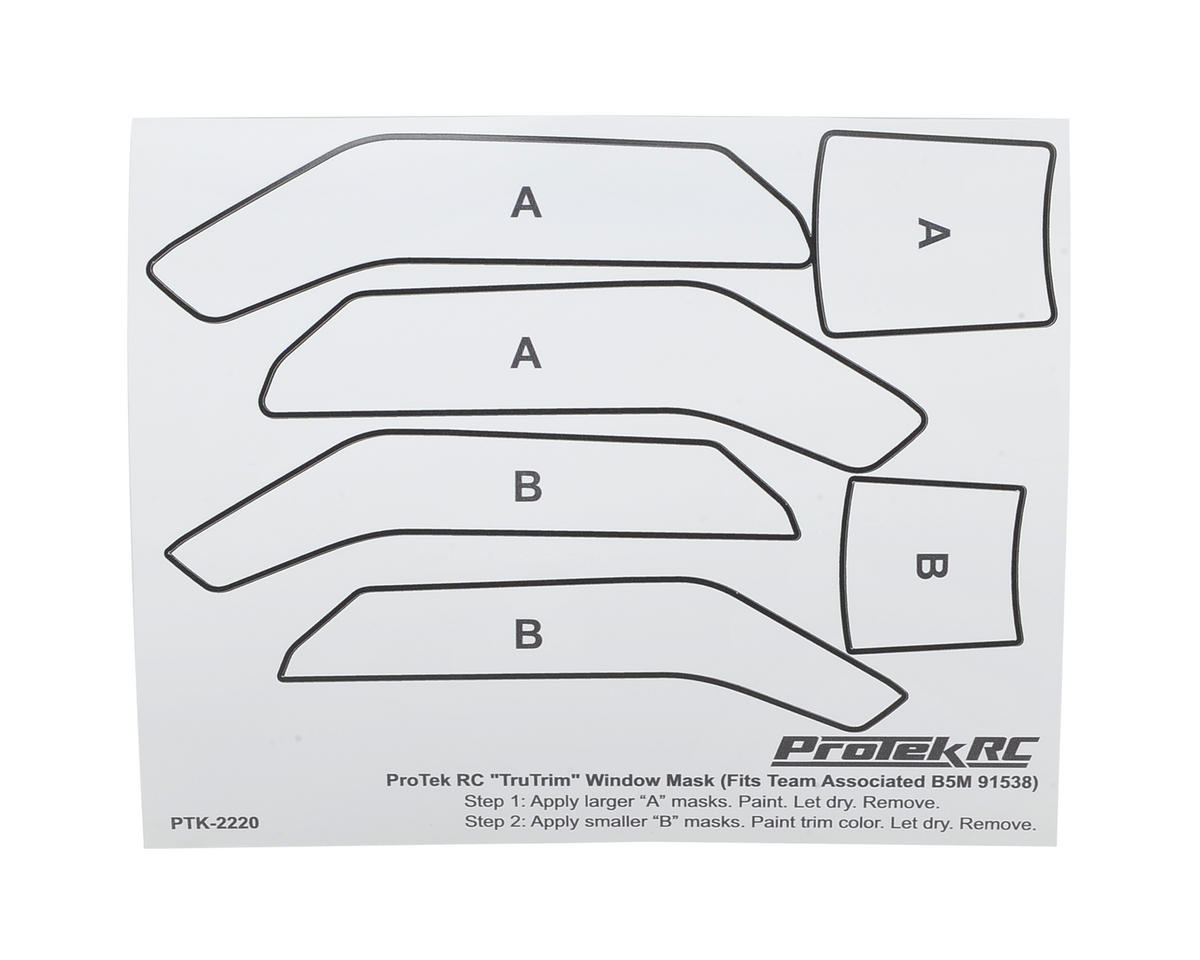 "ProTek RC ""TruTrim"" B5M Window Mask Trim Set (for Team Associated body ASC91538)"