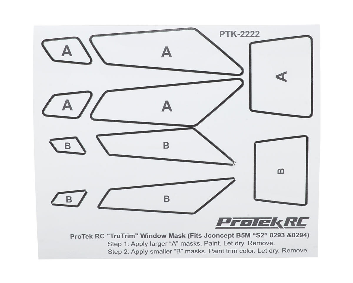 ProTek RC TruTrim B5M Window Mask Trim Set (JConcepts S2 JCO0293 & JCO0294)