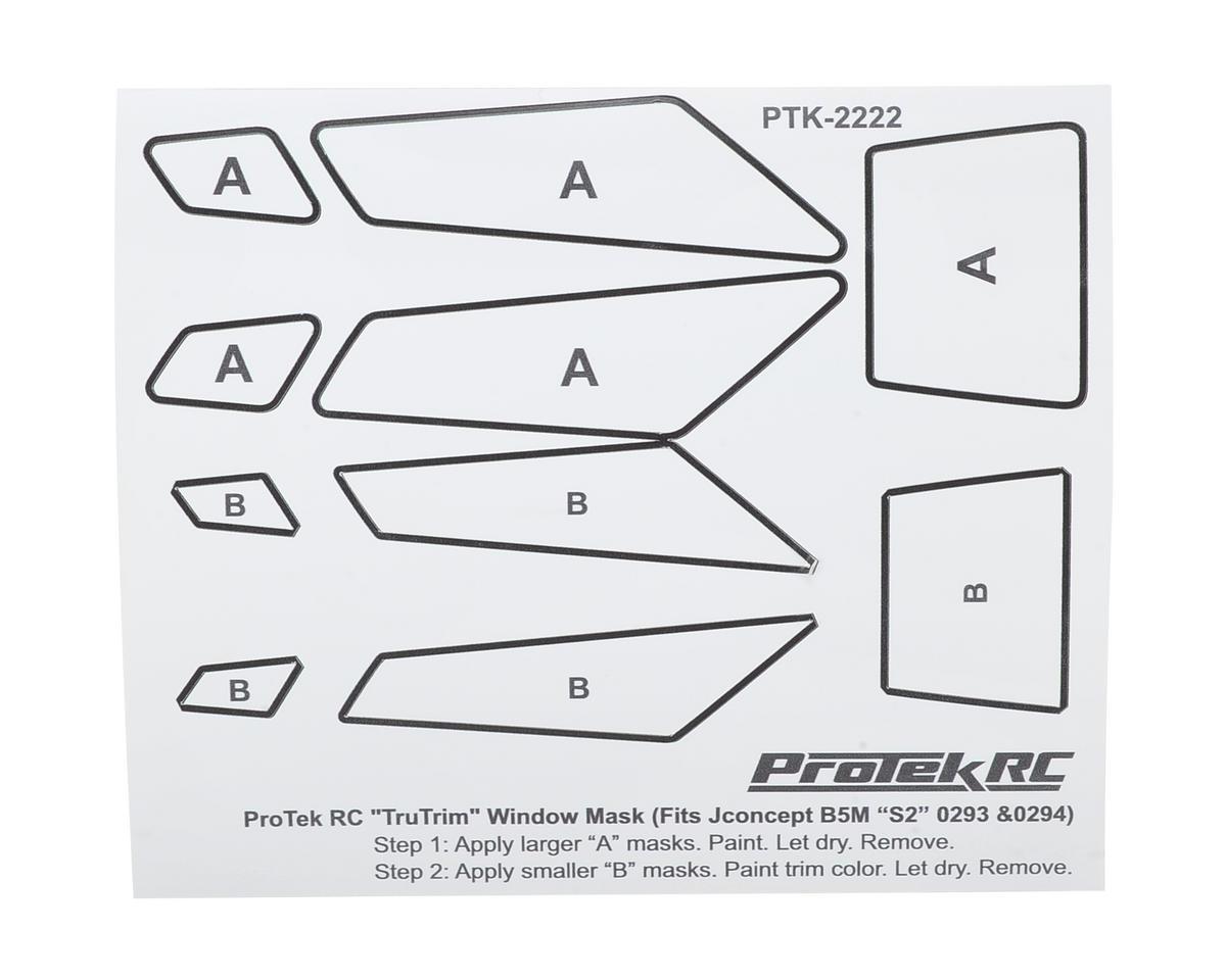 ProTek RC TruTrim B5M Window Mask Trim Set (JConcepts S2 JCO0293 & JCO0294)