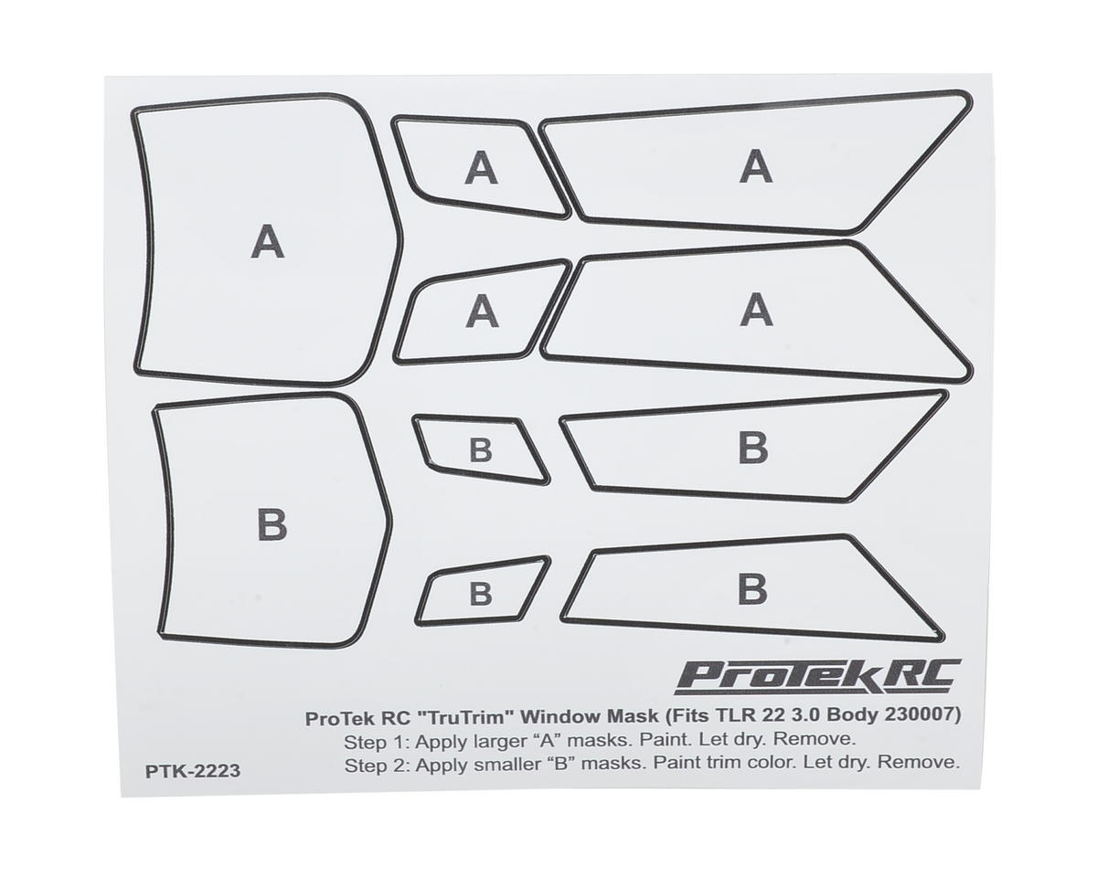 ProTek RC TruTrim 22 3.0 Window Mask Trim Set (TLR230007)