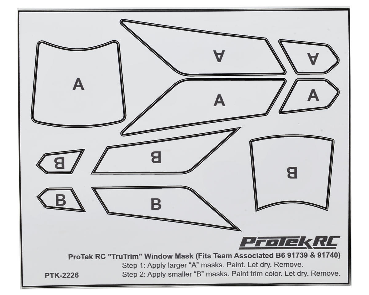 TruTrim B6/B6D Window Mask Trim Set (Fits ASC91739 & ASC91740) by ProTek RC