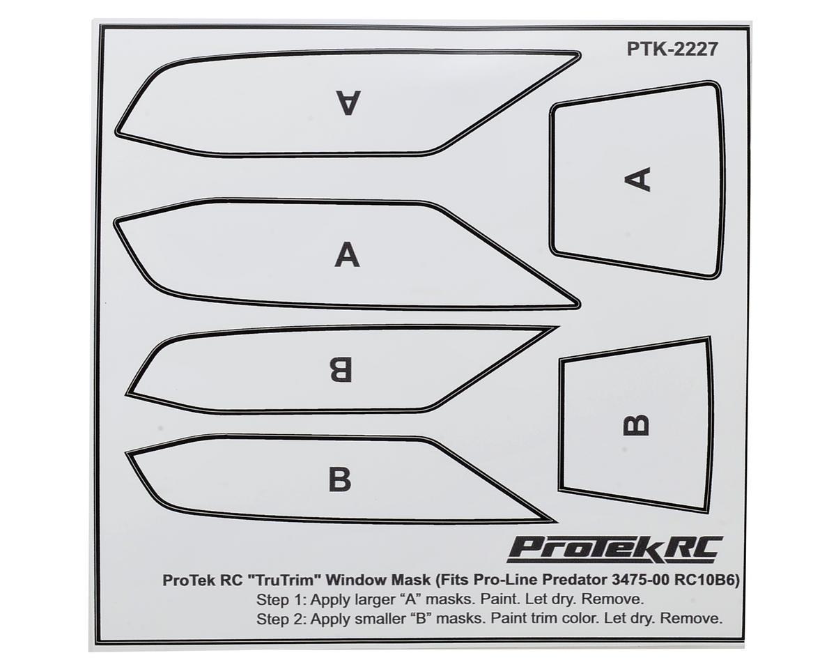 ProTek RC TruTrim B6/B6D Window Mask Trim Set (Pro-Line Predator PRO3475-00)
