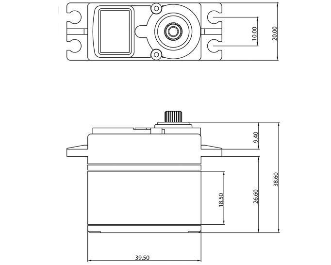 "ProTek RC 330T Standard Digital ""Super Torque"" Metal Gear Servo (High Voltage)"