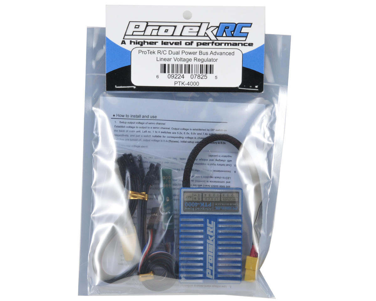 ProTek RC Dual Power Bus Advanced Linear Voltage Regulator