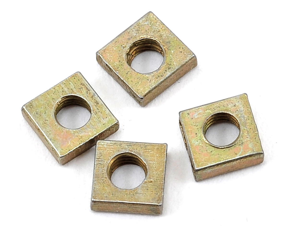 "ProTek RC ""SureStart"" Replacement 3mm Square Nut (4) (ProTek R/C PTK-4500)"