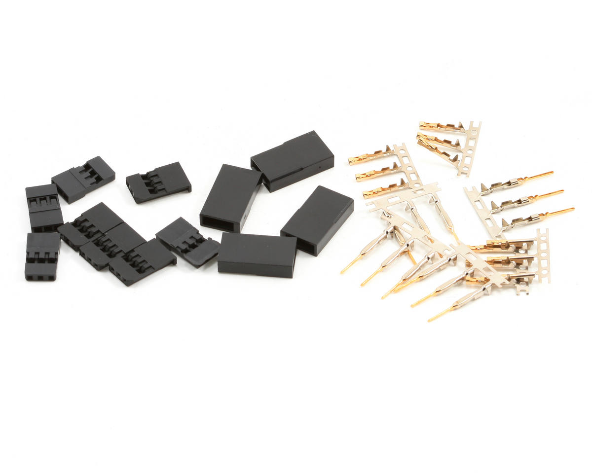 Futaba Style Servo Connectors (4 Pair) by ProTek RC