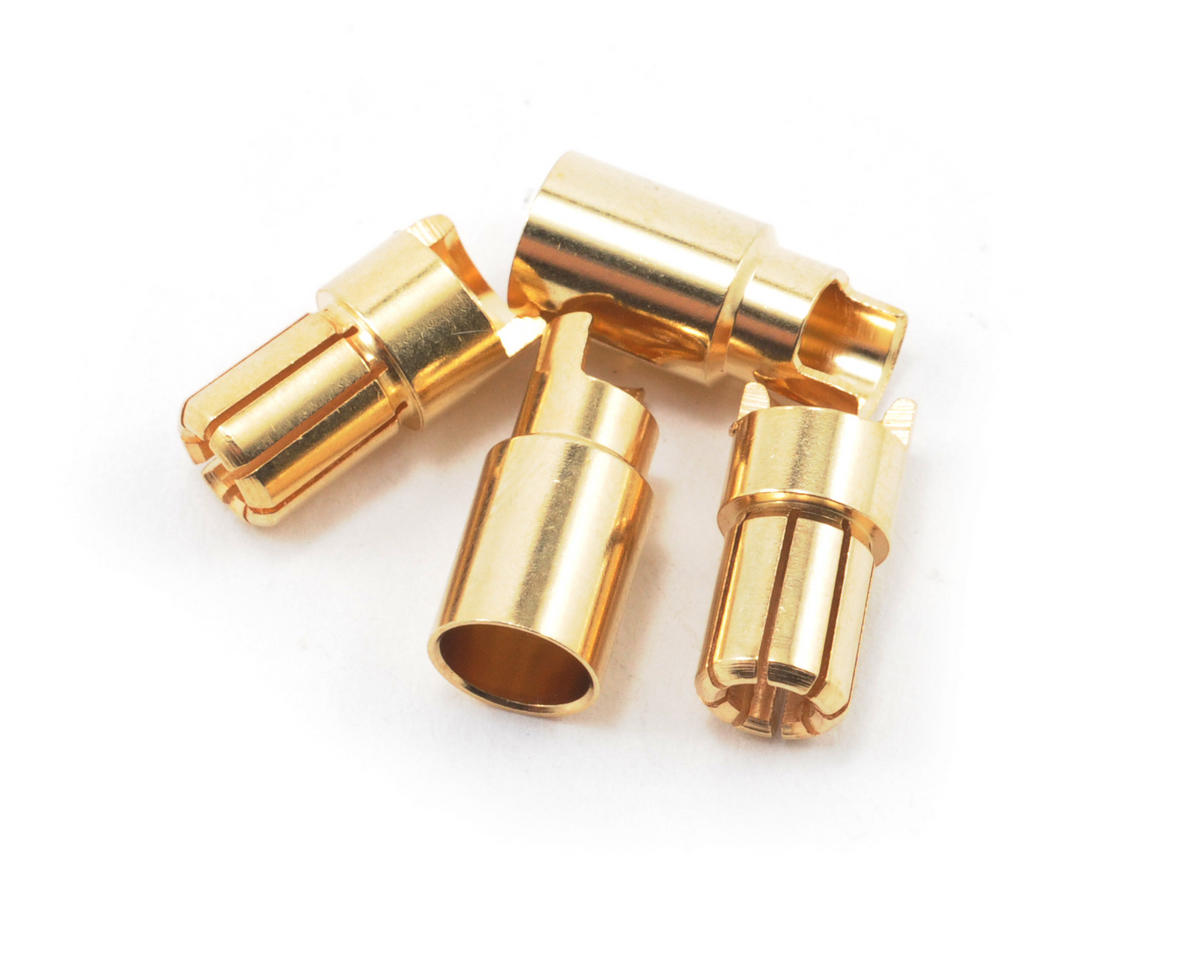"ProTek RC 6.0mm ""Super Bullet"" Solid Gold Connectors (2 Male/2 Female)"