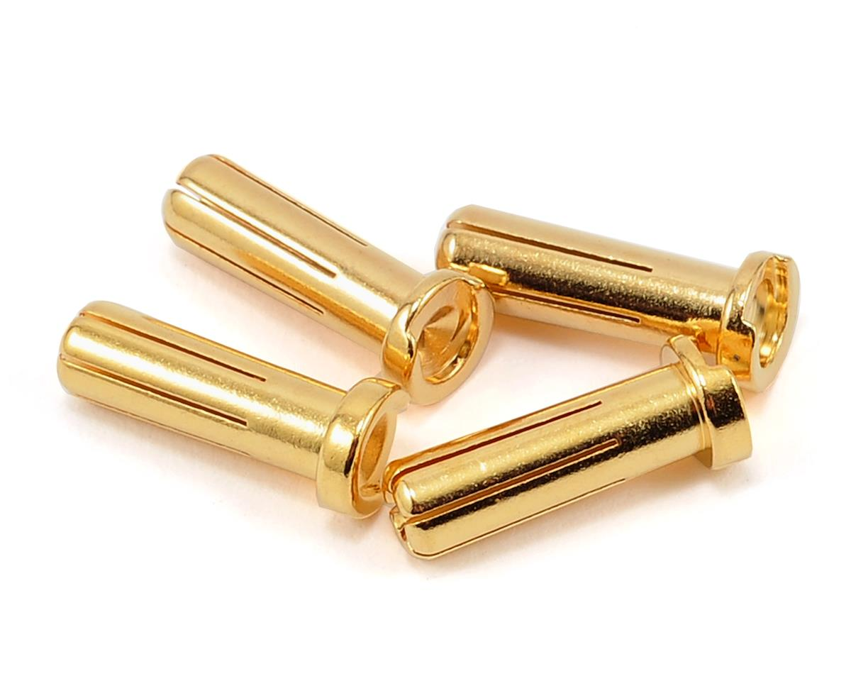 "5.0mm ""Super Bullet"" Solid Gold Connectors (4 Male) by ProTek RC"