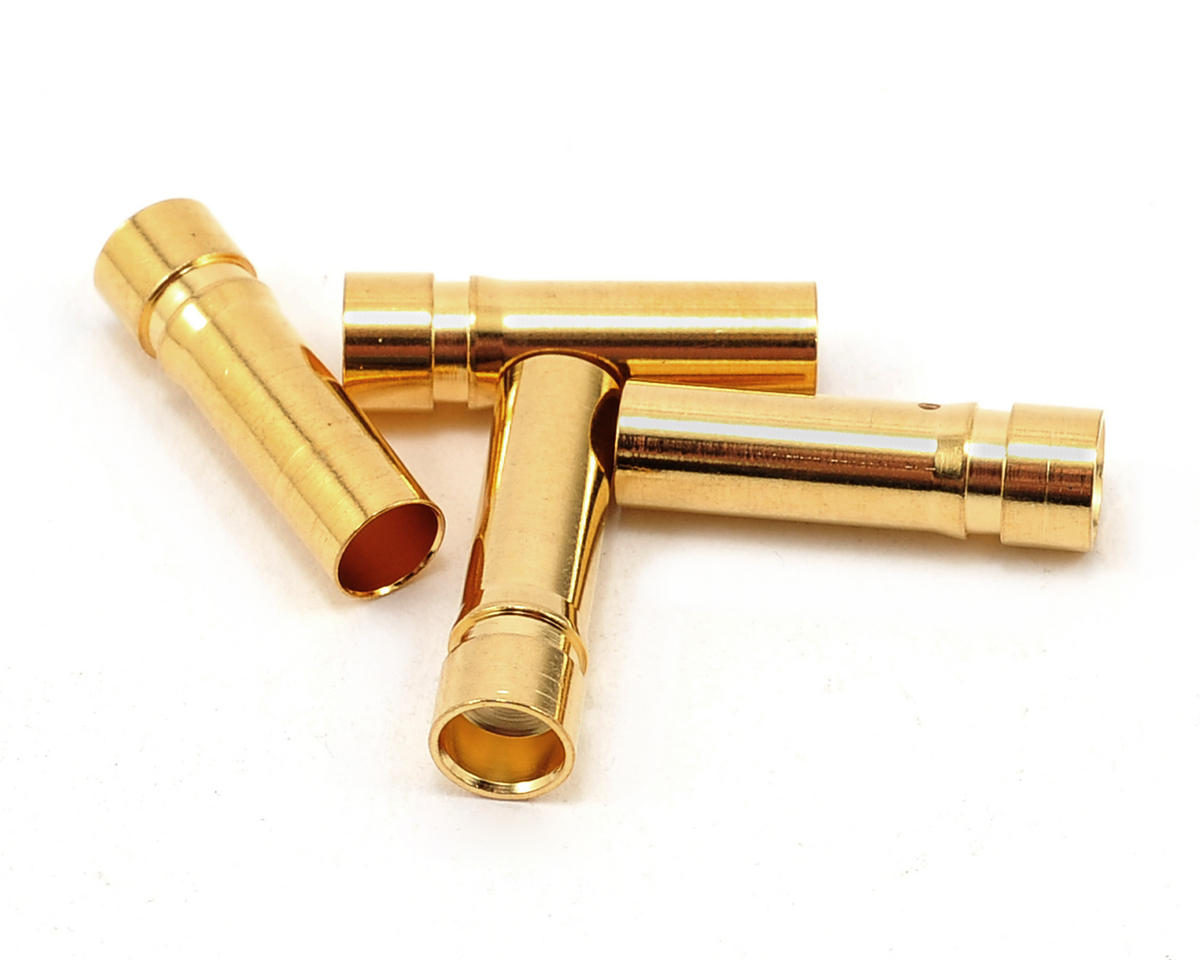 "ProTek RC 5.0mm ""Super Bullet"" Solid Gold Connectors (4 Female)"